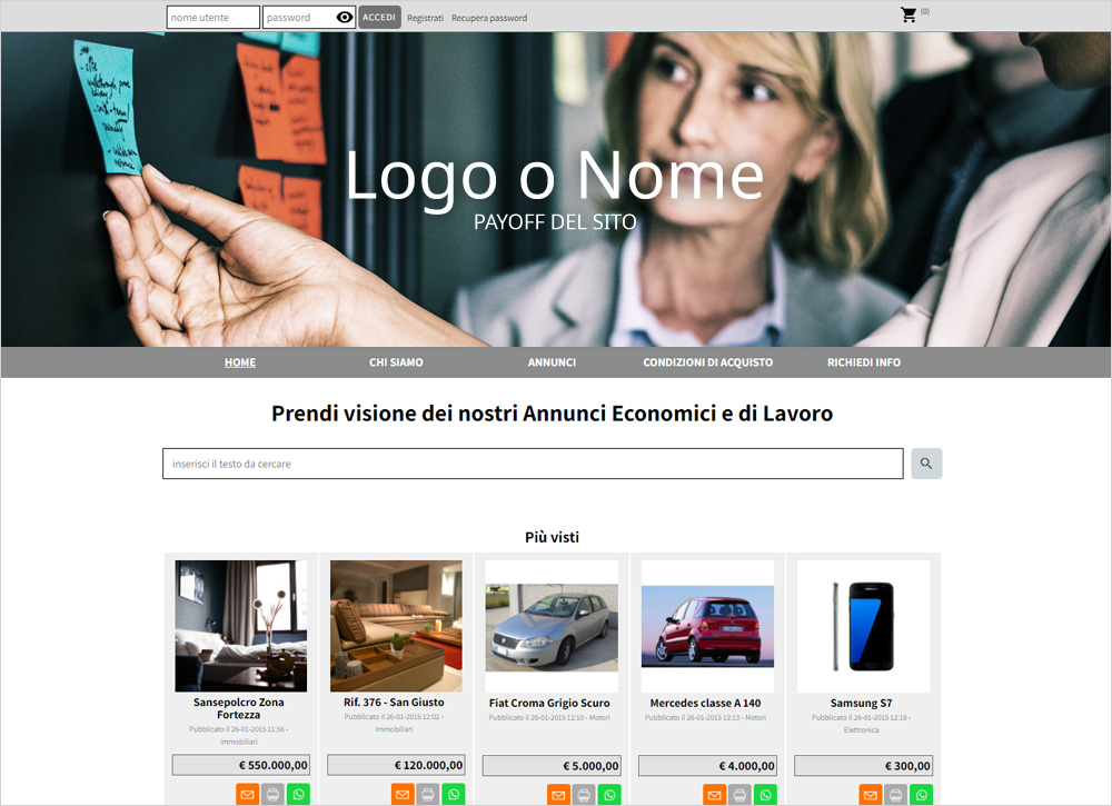 crea sito web per annunci economici img