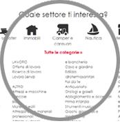 crea sito web annunci economici possibilita divisione categorie