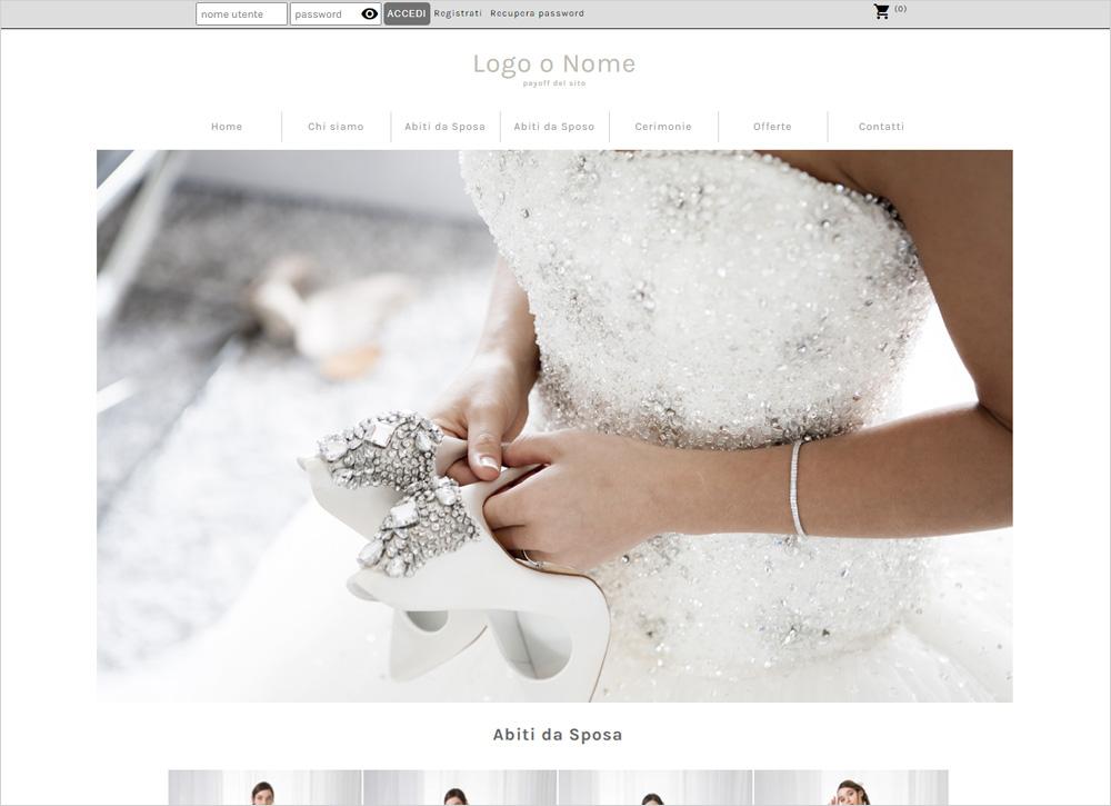crea sito per atelier da sposa img