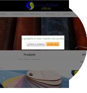 crea sito web conceria carrello ordini con acquisto online