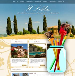crea sito web per albergo personalizza la grafica
