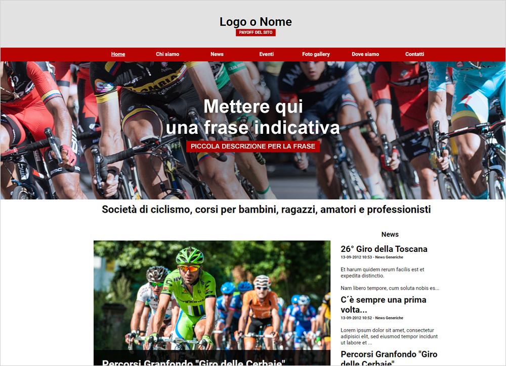 crea sito web per ciclismo