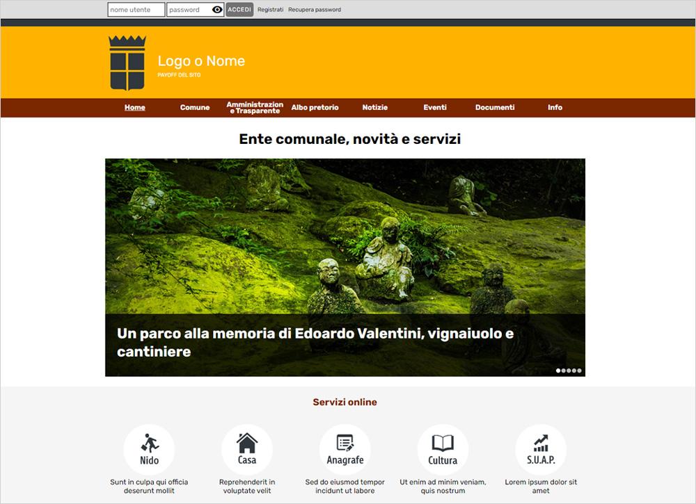 crea sito web per comune
