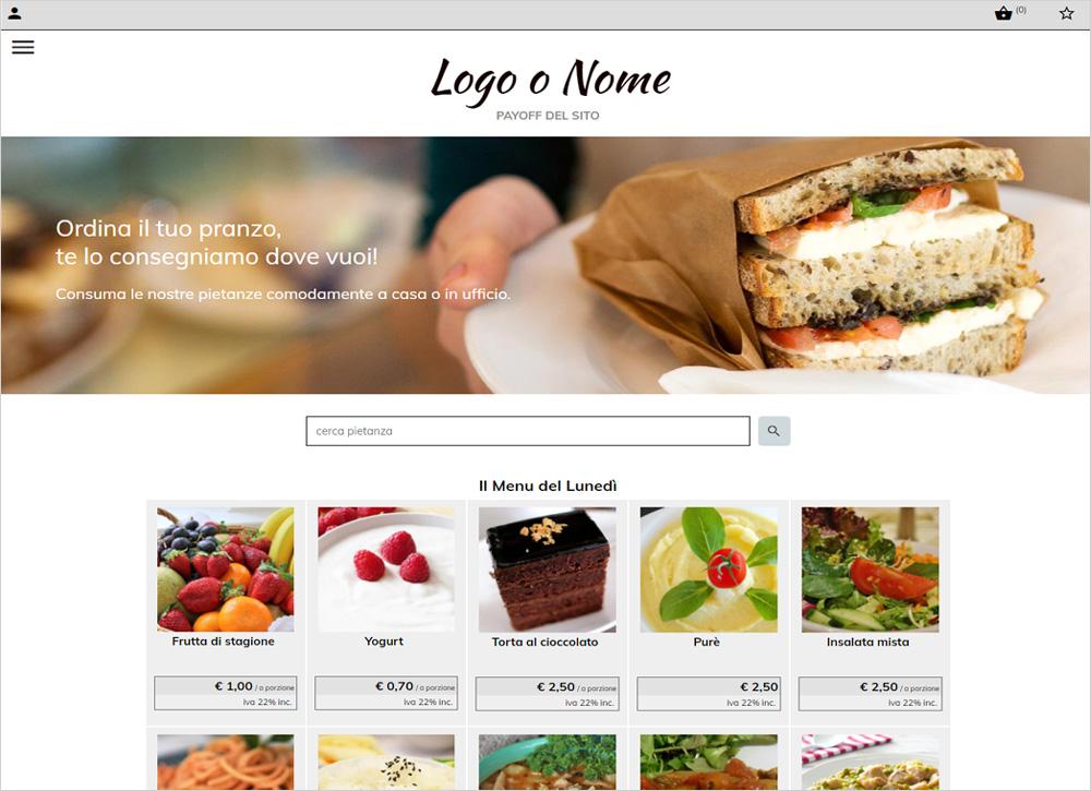 crea sito web per e-commerce alimentare