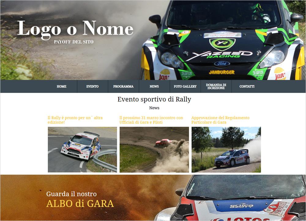 crea sito web per squadra di rally img
