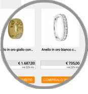 crea sito web per gioielleria, elenco prodotti