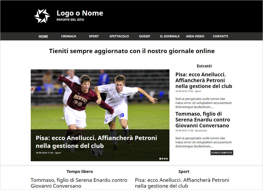 crea sito web per giornale on-line