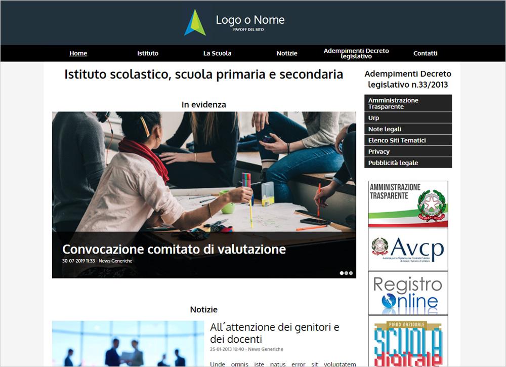 crea sito web per istituto scolastico