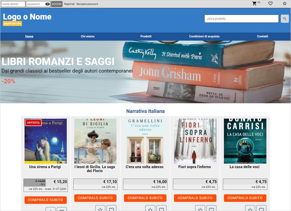 crea sito web per libreria