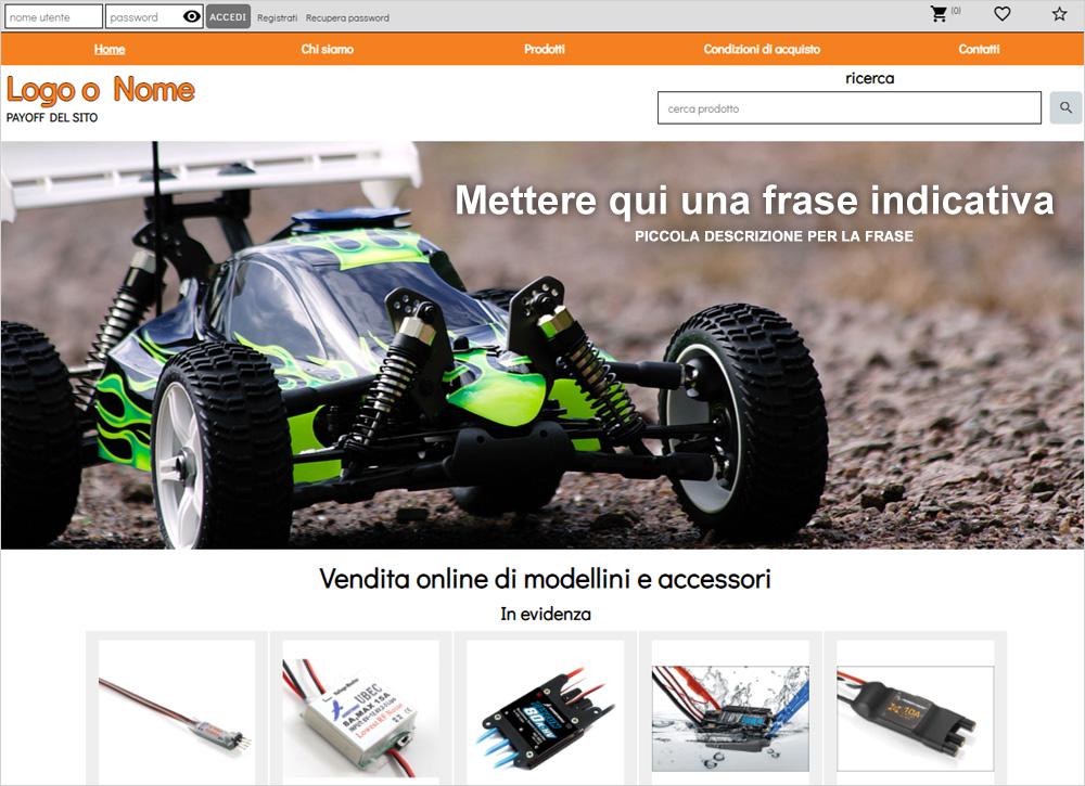 crea sito web per modellismo