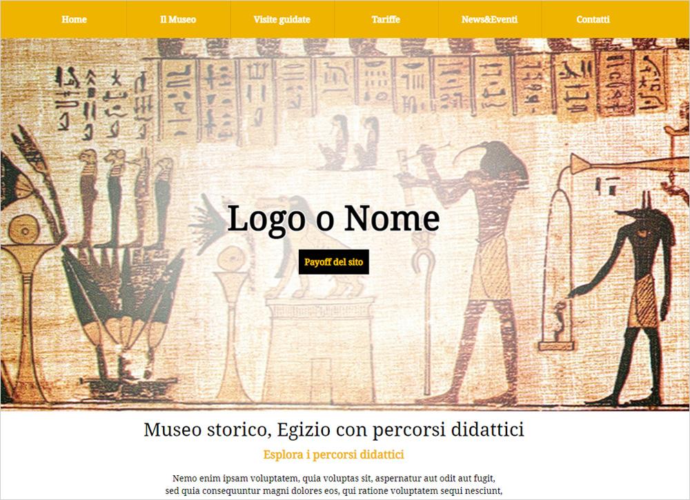 crea sito web per museo