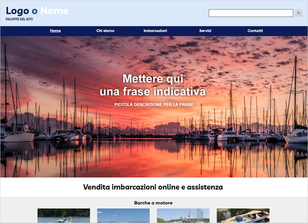crea sito web per nautica