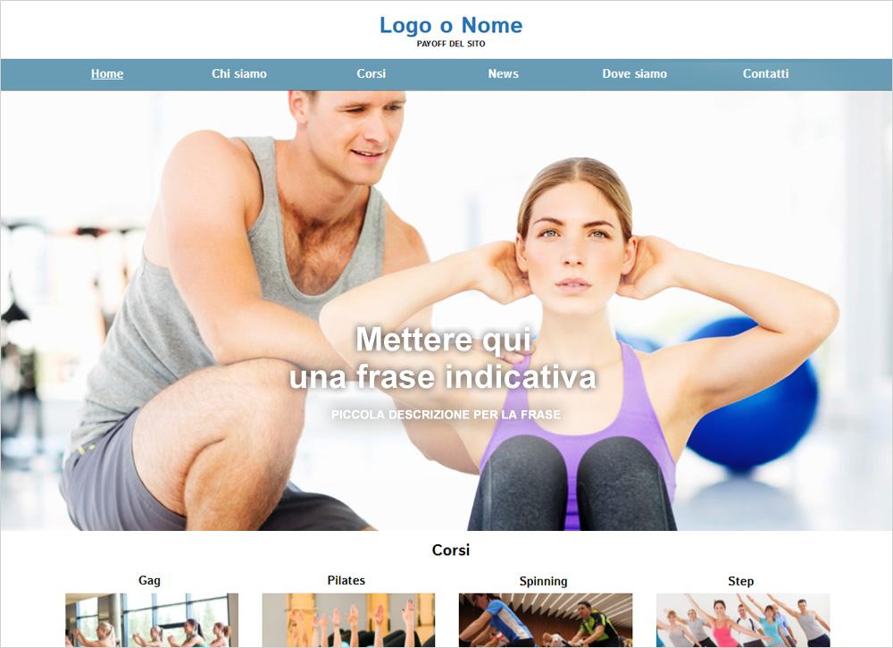 crea sito web per palestra