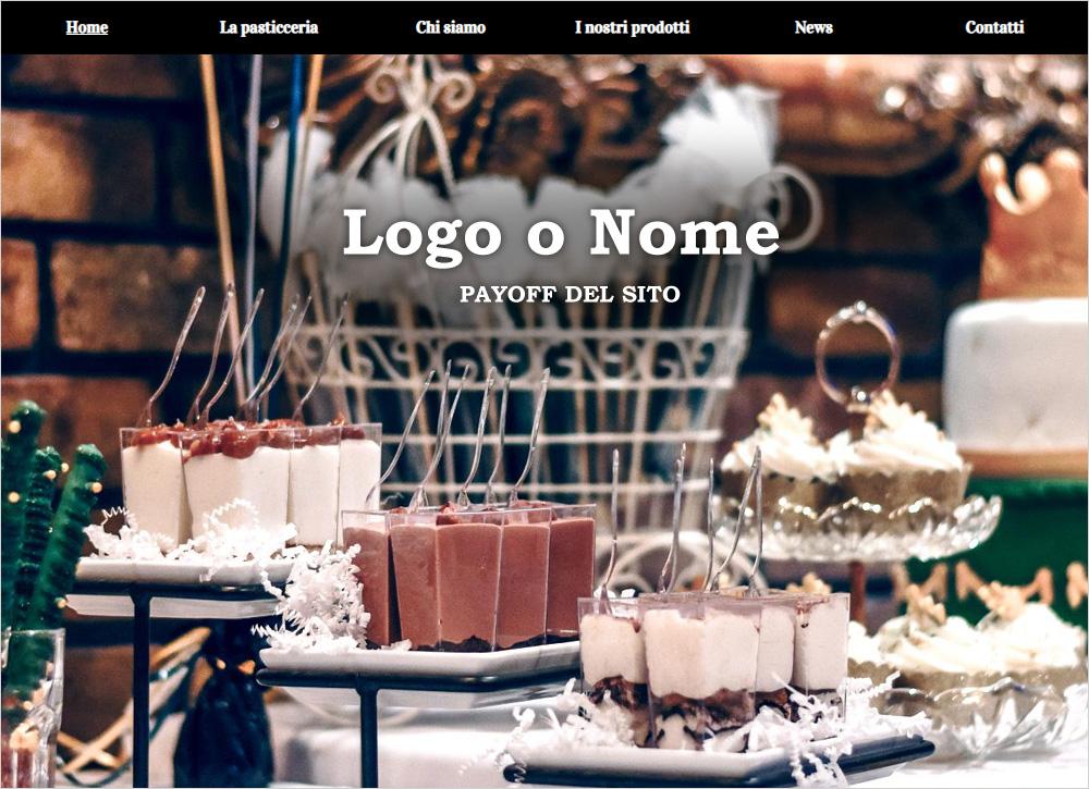 crea sito web per pasticceria