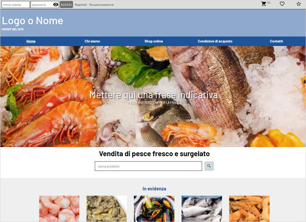 crea sito web per pescheria