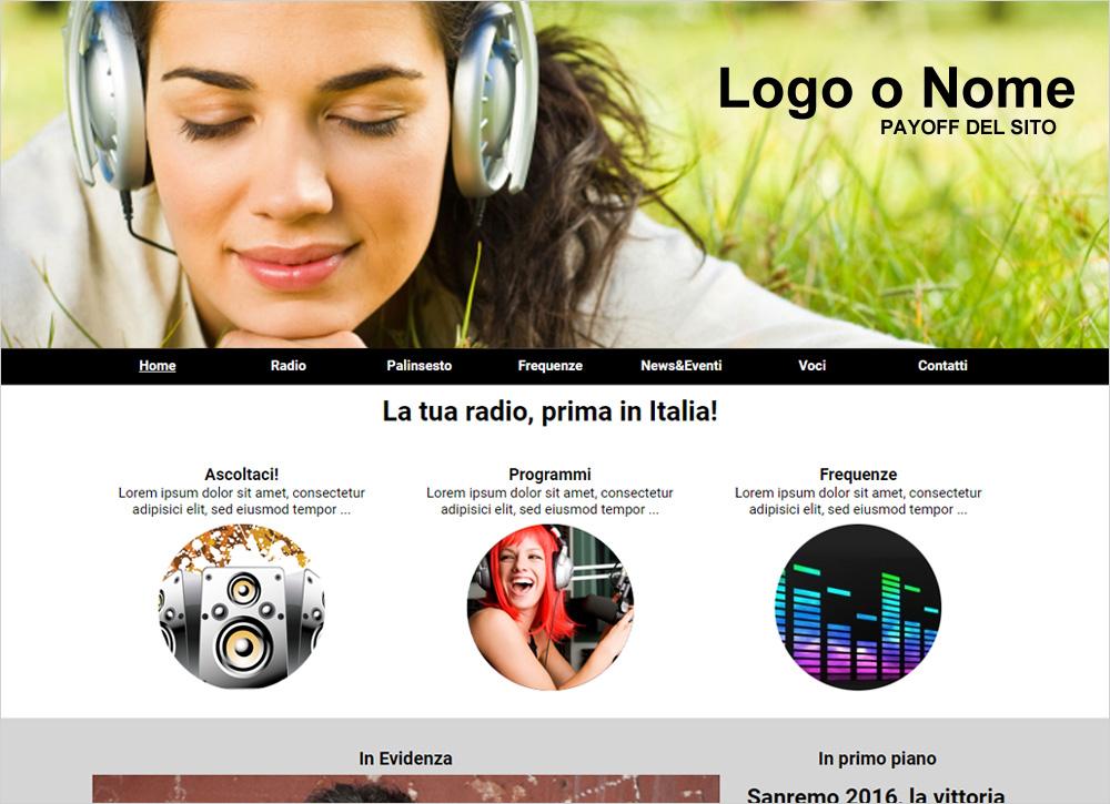 crea sito web per radio