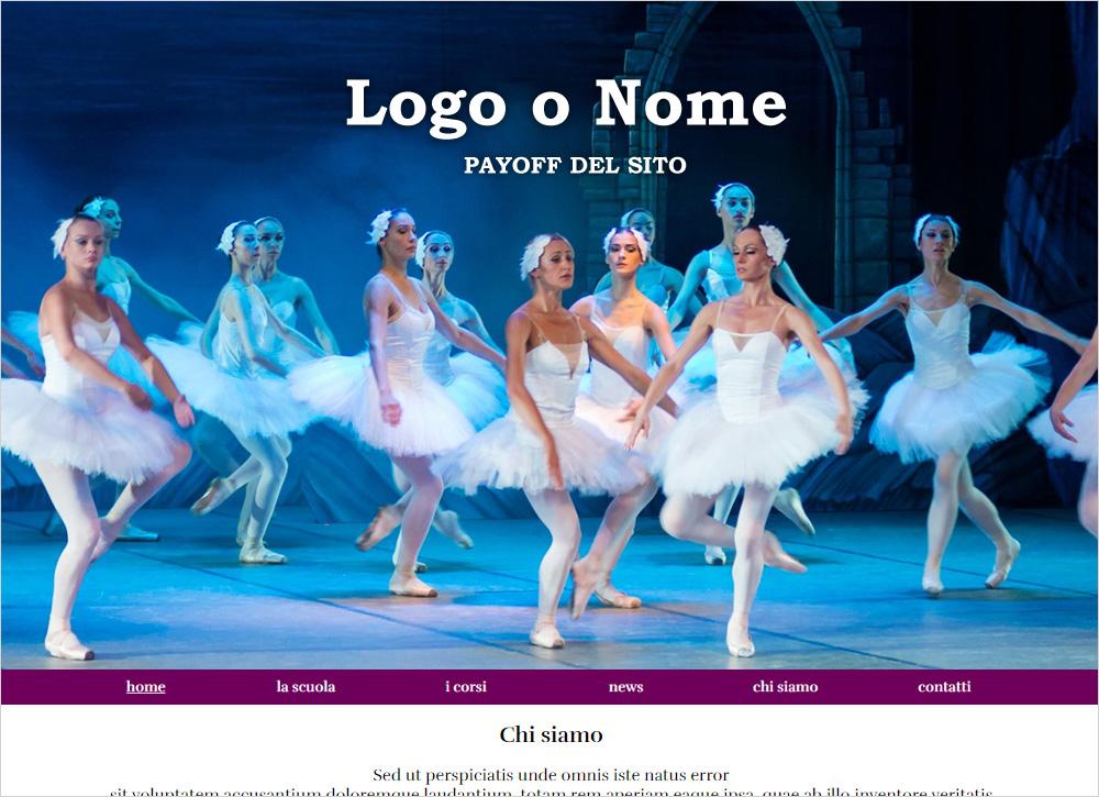crea sito web per scuola di ballo
