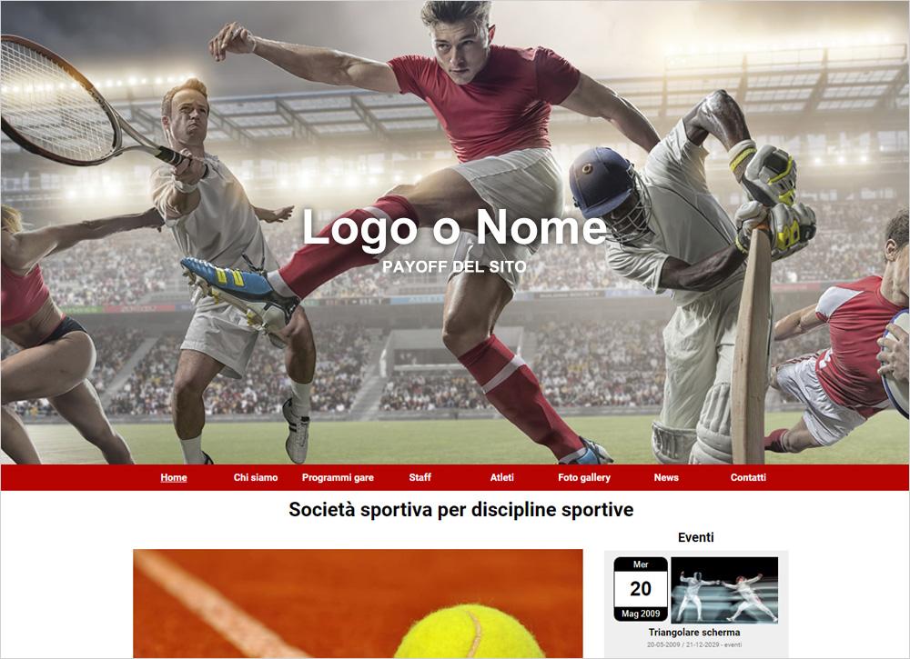 crea sito web per sport generico img