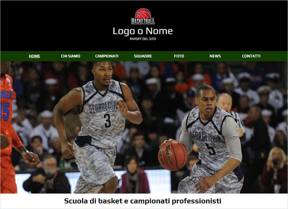 crea sito web per squadra di basket