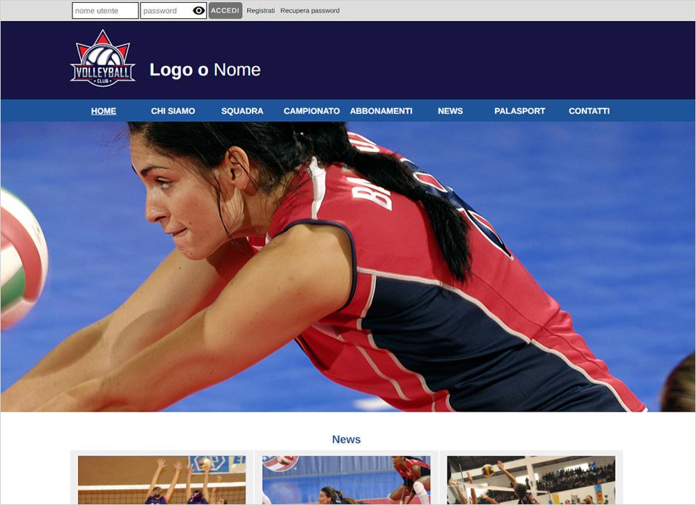 crea sito web per squadra di pallavolo