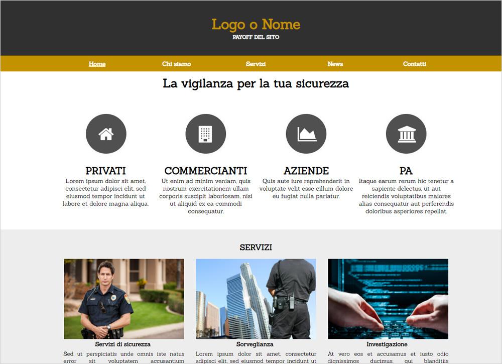 crea sito web per vigilanza img