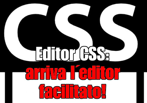editor css arriva editor facilitato