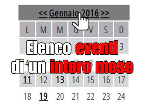 elenco eventi intero mese
