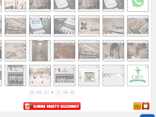 Eliminazione multipla archivio immagini