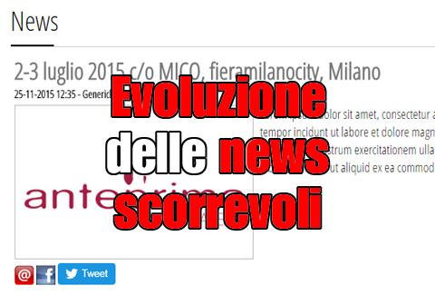Evoluzione delle news scorrevoli