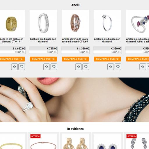 gestione vetrine prodotti, crea sito web per e-commerce