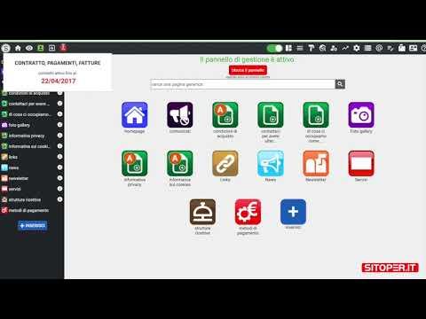 immagine di anteprima del video: Prima occhiata pannello gestione del sito web