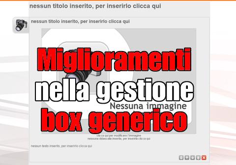 miglioramenti gestione box generico