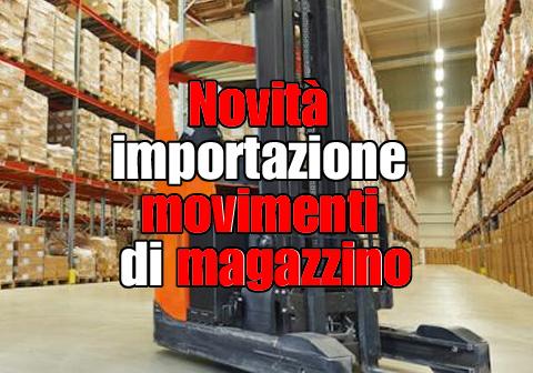 novita movimenti di magazzino