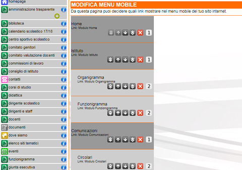 Nuova gestione del menu mobile