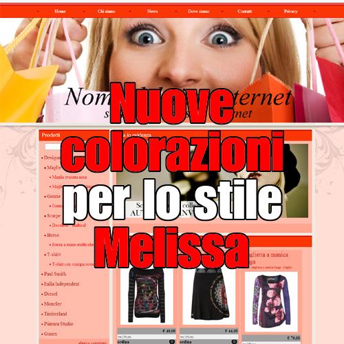 Nuove colorazioni per lo stile Melissa