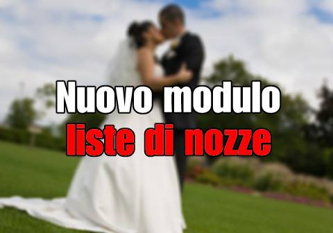 Nuovo modulo liste di nozze