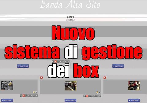 nuovo sistema gestione box