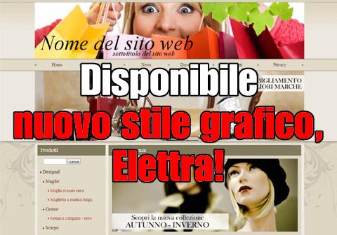 Disponibile nuovo stile grafico, l'Elettra!