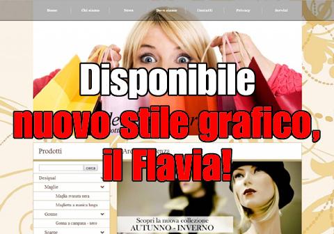 Disponibile nuovo stile grafico, Flavia