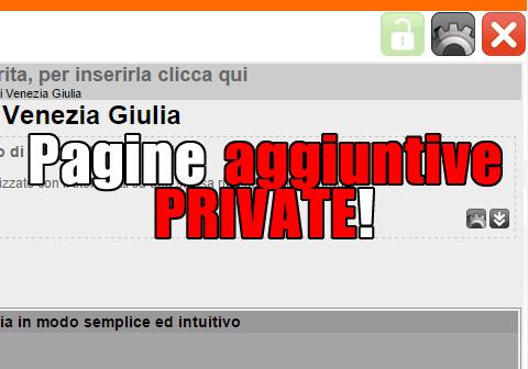 pagine aggiuntive private