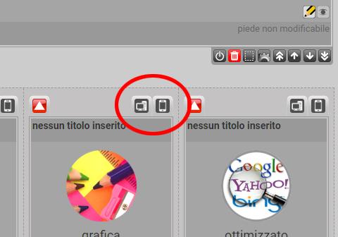 scegliere quali box mostrare visualizzazione pc mobile