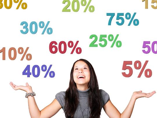 spese di pagamento in percentuale