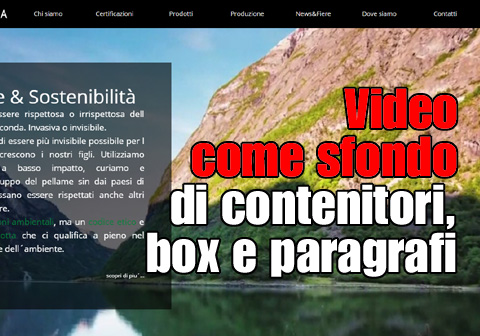 video come sfondo contenitori box paragrafi 1