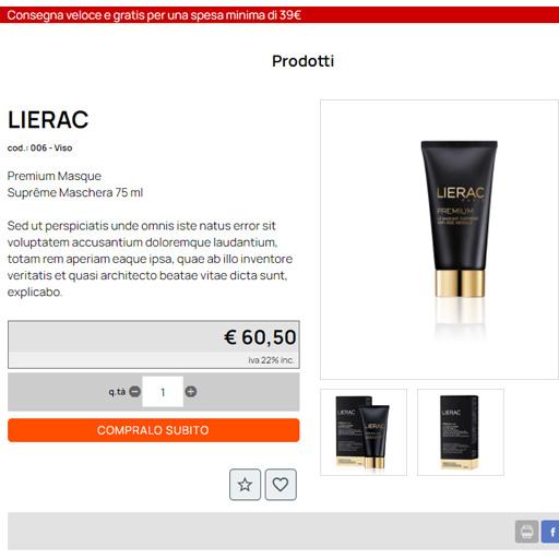 visualizzazione catalogo prodotti, crea sito web per e-commerce