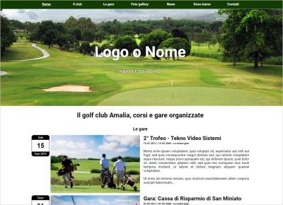 crea sito per golf club