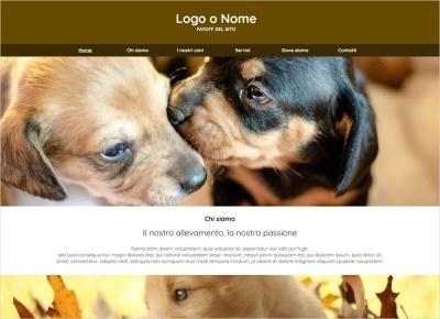 crea sito web per allevamento cani img