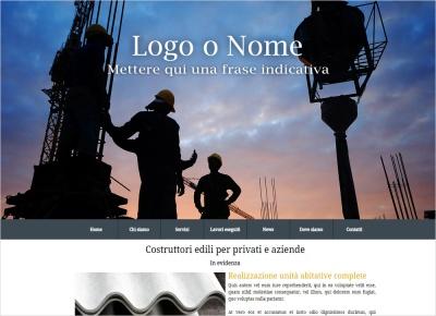 crea sito web per costruttori edili