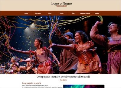 crea sito web per compagnia teatrale