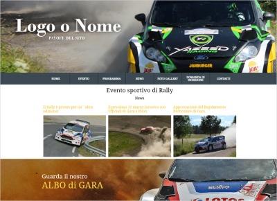 crea sito web per evento sportivo