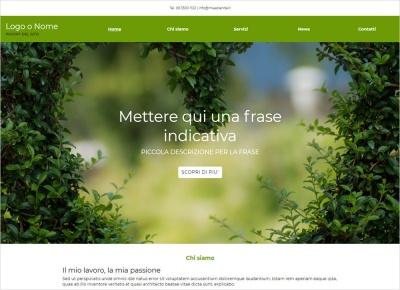 crea sito web per giardiniere img